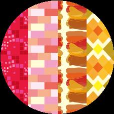 따뜻한 색 패턴